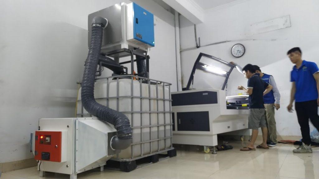 Hệ thống hút khói bụi của máy cắt laser